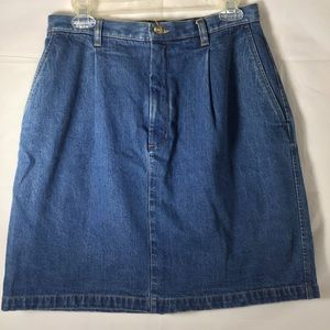 Eddie Bauer Jean Denim Skirt Sz 10